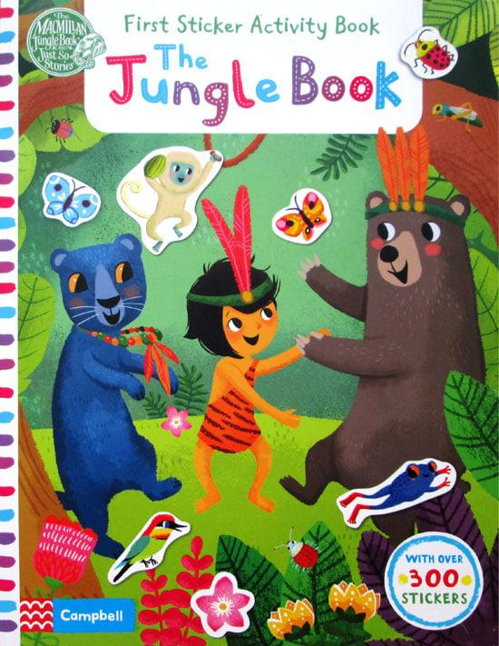 OBRAL MURAH Buku Edukasi Anak First Sticker Activity Book The Jungle Book with over 300 Stickers Stories for Kids