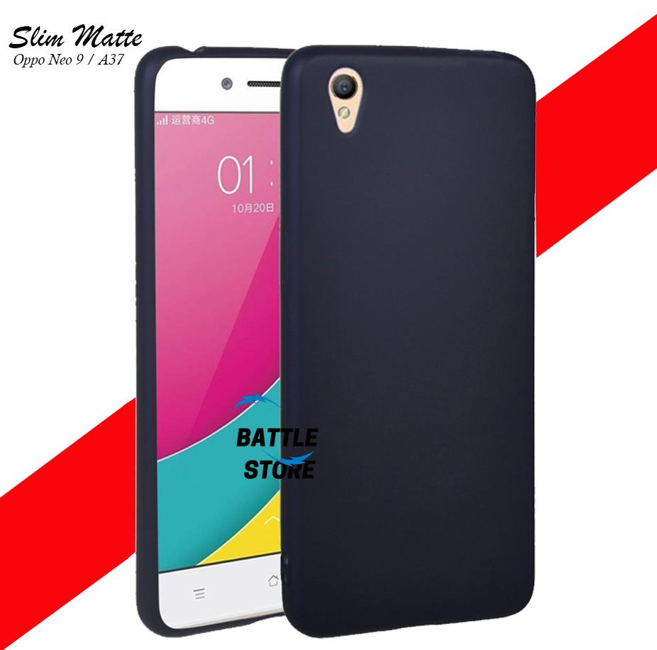 Silicone Soft Case Baby Skin For Oppo Neo 9 ( A37 ) Case Luxury Matte Cover For Oppo Neo 9 ( A37 ) - Black