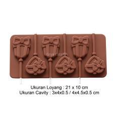 Griya Cetakan Coklat Permen Lolipop Gift Silicone Warna Random