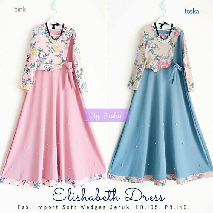 Baju Gamis Elishabeth Dress Muslimah