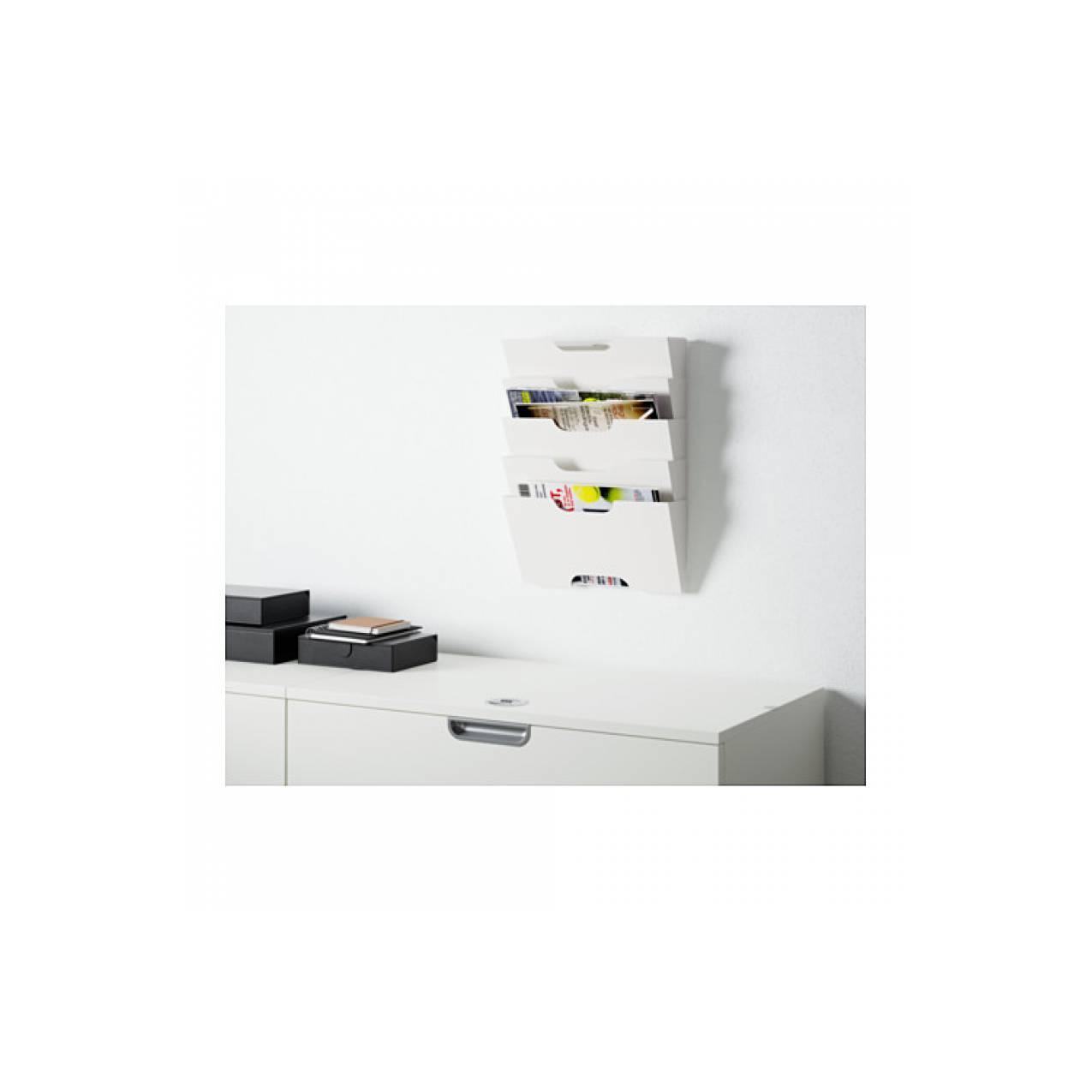 IKEA KVISSLE, Rak koran/majalah pada dinding, warna putih