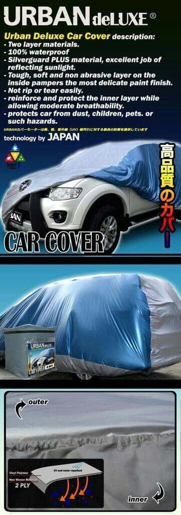 BEST SELLER!!! URBAN DELUXE Cover Body Mobil 2 Lapis untuk Avanza, Xenia, Terios dll - Full Silver - 8cw3Kh