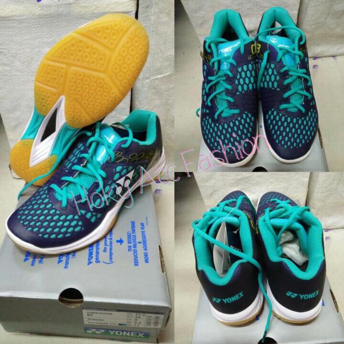 Sepatu Badminton Yonex SHB 03 EX Navy -Original - iodV2d