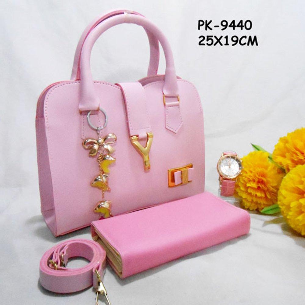 Paket Tas 3in1 PK-9440 (Tas,Dompet & Jam Tangan) di lapak Tas Wanita Murah Meriah berlii