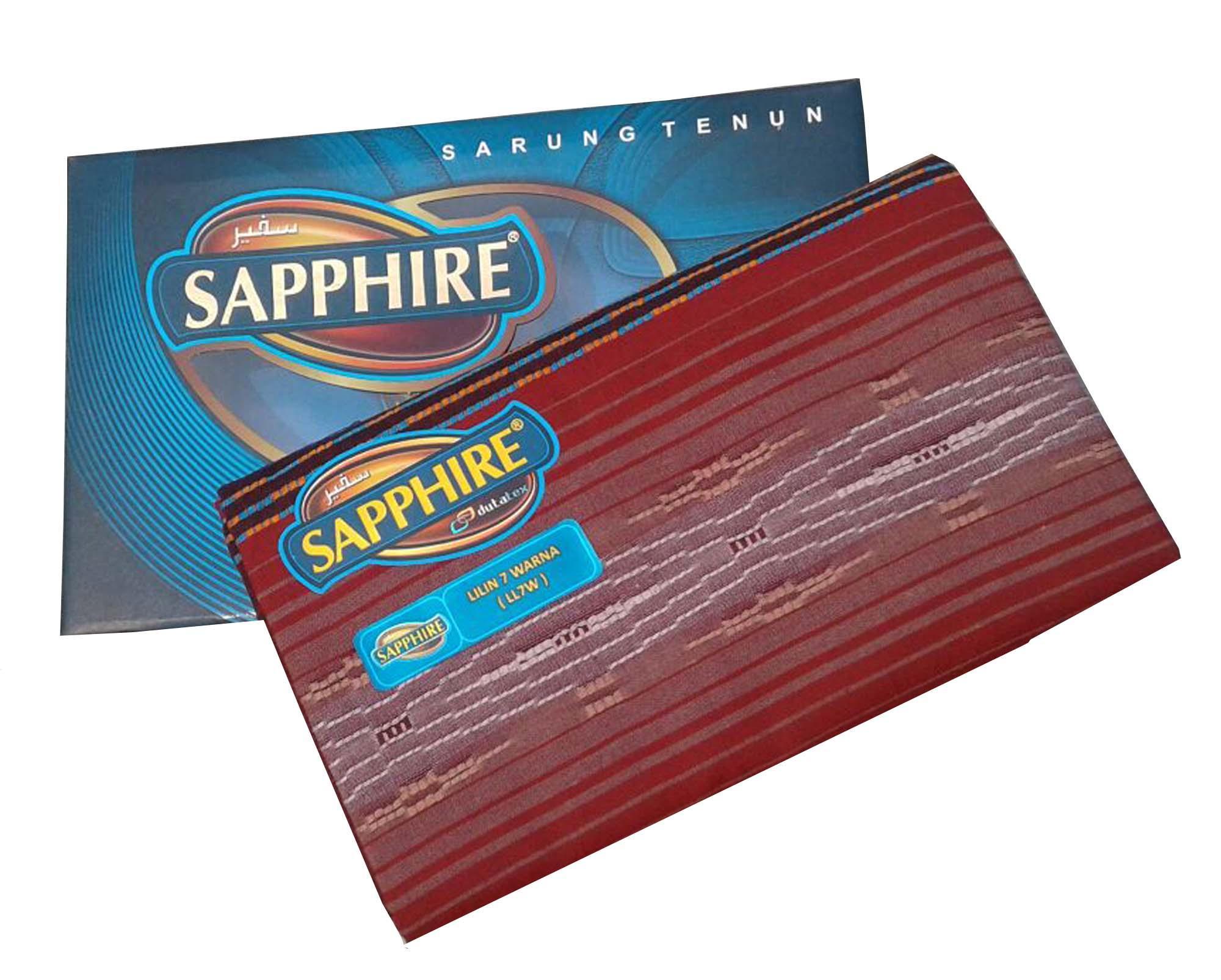 Diky/ Sarung Pria/ Sarung Sapphire/ Sarung Tenun/Sarung motif Lilin 7 warna