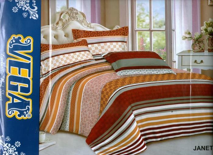 Bedcover murah ukuran 180 x 200 rumbai - Alexi