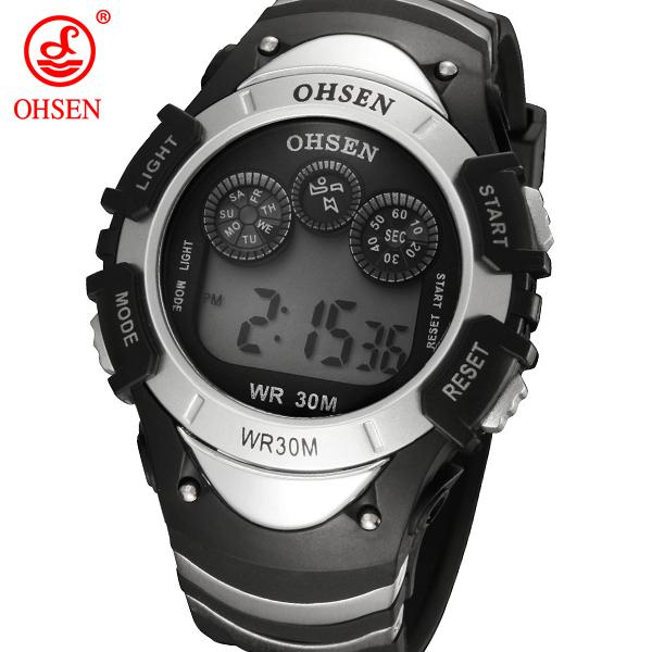 124ddfab4cd OHSEN 0815 New OHSEN Electronic Wrist Watches Boys Sports Watch Men Alarm  Day Date LED Back