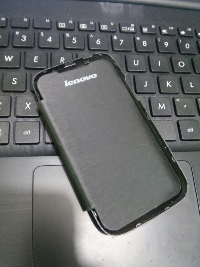 Flip Cover Case Lenovo A269i Hitam