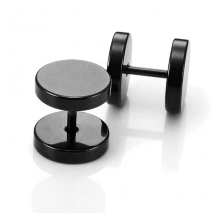 Anting Pria | Cowok| Lelaki Barbell Titanium Steel 10 mm (per 1 buah) Asli Original