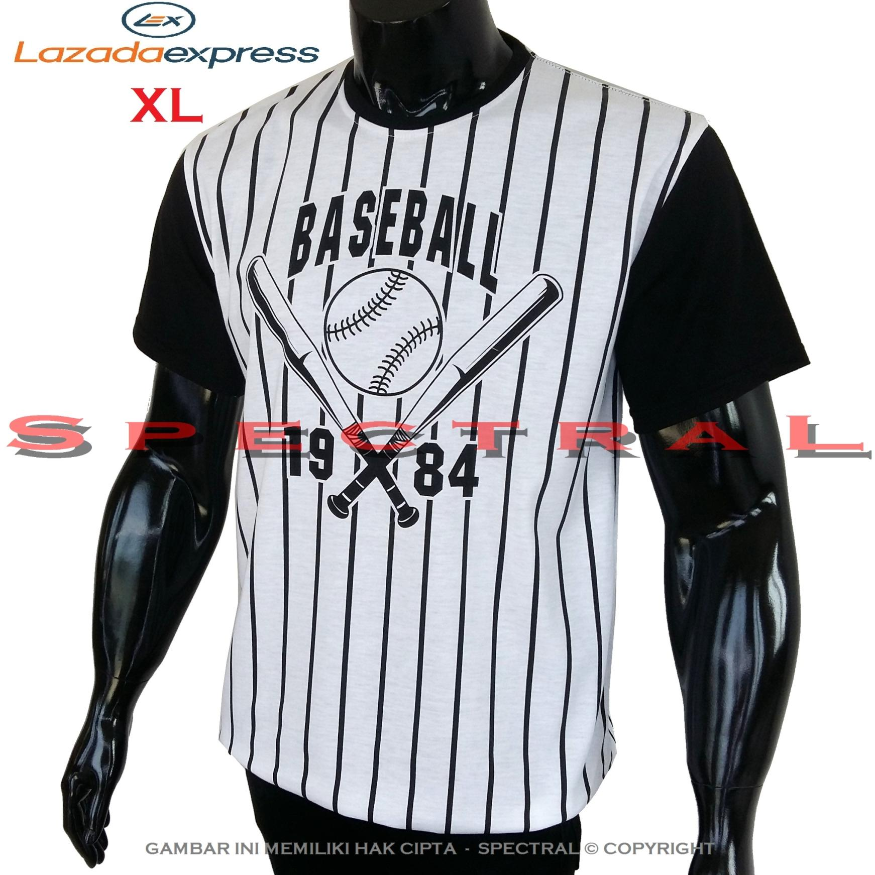 Spectral – Kaos L / XL Baseball Distro Fashion T-Shirt Cotton Pria Wanita Cewe Cowo Baju Pakaian Olahraga Sport Ukuran Besar Rap Hop Hiphop Atasan Keren Murah Bagus Jakarta Bandung Kekinian Jaman Tulisan Bisbol Basket Salur Putih