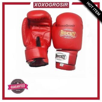 Pencarian Termurah XoxoGrosir - Glove Rocky MMA Muaythai Sanda Wushu Boxing Sarung Tinju Sepasang sale -