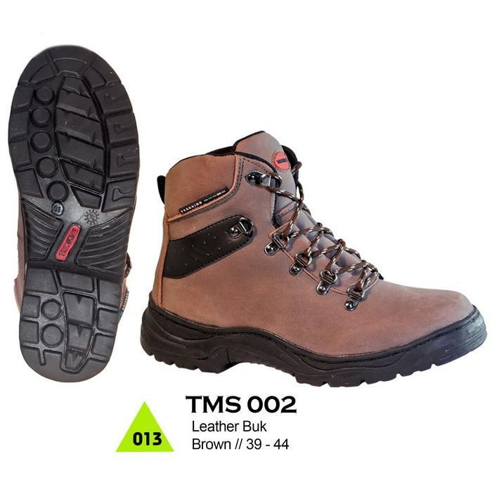 Promo Jual Sepatu Hiking Outdoor Gunung / Sepatu Boots Kulit Pria TMS 002 Diskon
