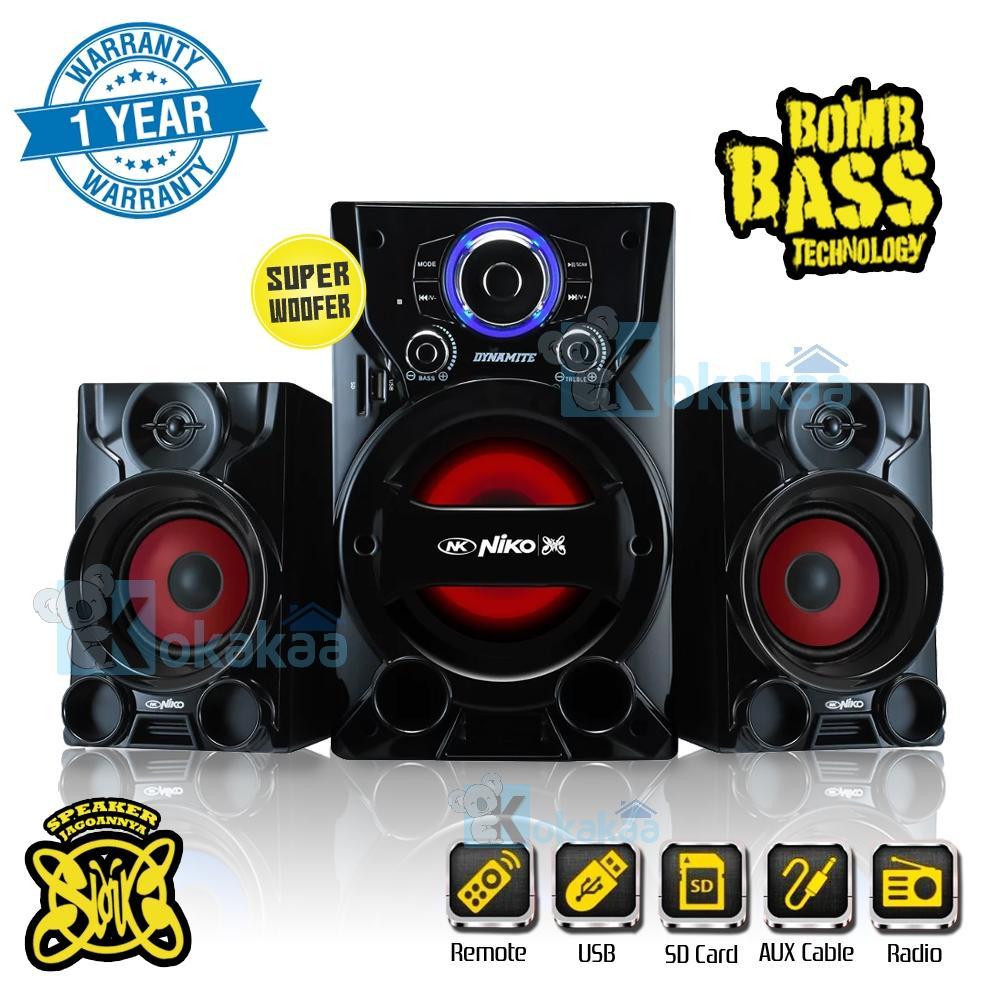 Niko Slank Speaker Dynamite Super Woofer Bomb Bass Technology Pengeras Suara + Bluetooth 55 Watt