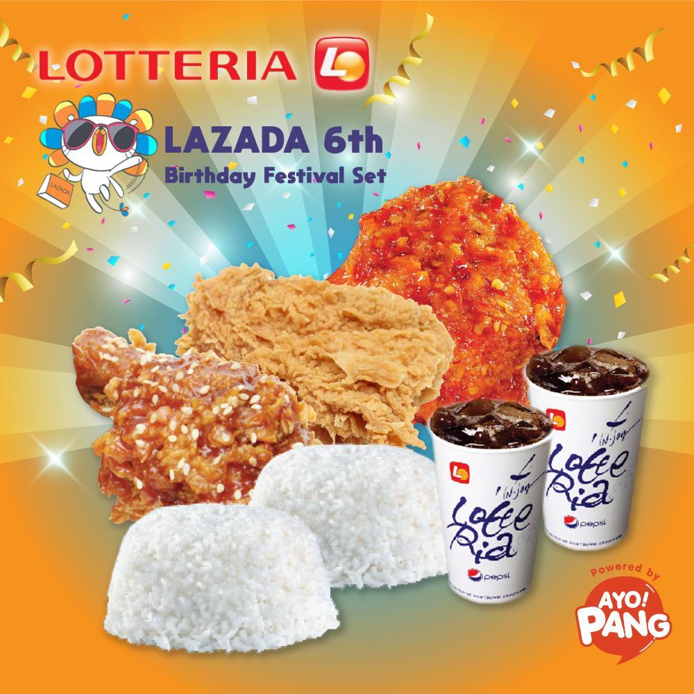 [LOTTERIA] Lazada 6th Birthday special set