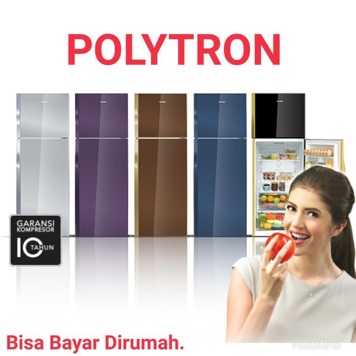 Kulkas 2 Pintu Polytron PRM21QS BELLEZA 3 Glass Door