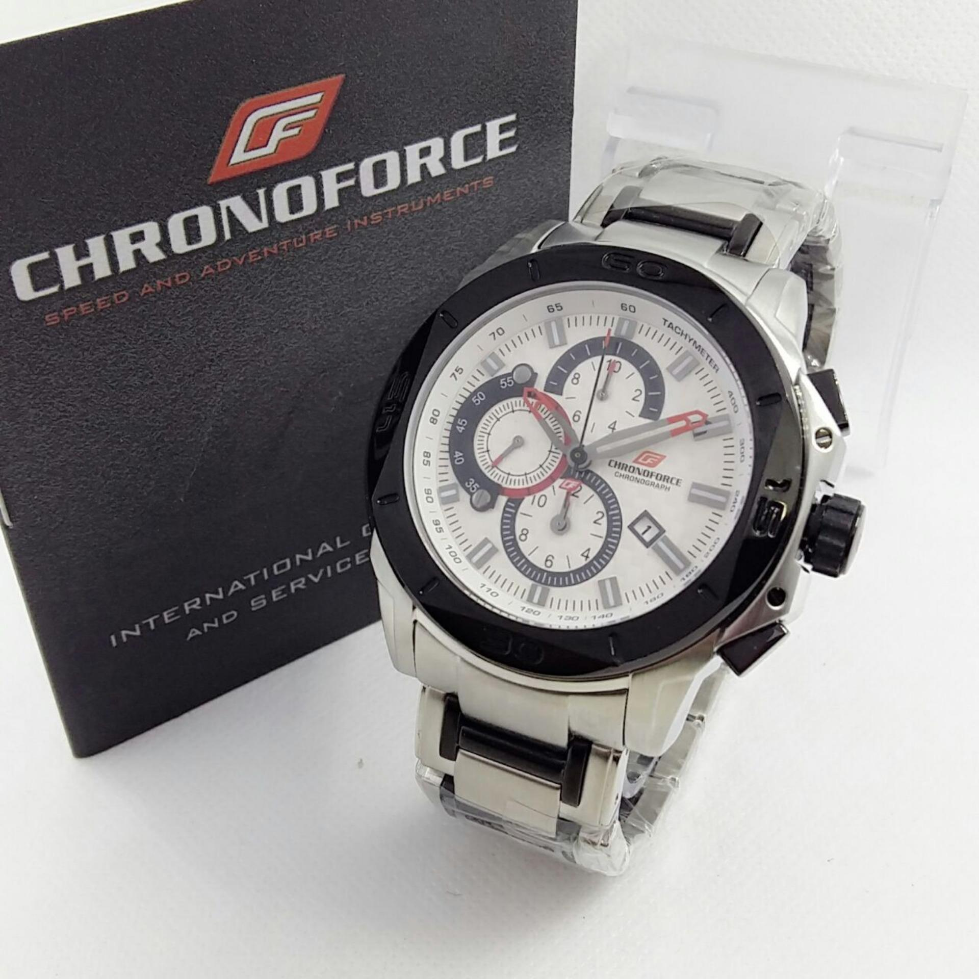 CHRONOFORCE CR5158OS - Jam Tangan Fashion Pria - Full Stainless - Chronograph Mode