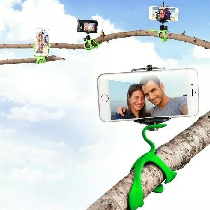 Tripod Gekko Flexible Mini Gekkopod Gekko Pod Gecko Camera Handphone By Askhev Store.