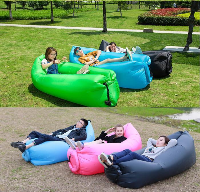 Sofa Angin Air Sofa Bed Lipat Travel Kantong Udara Santai Inflatable P