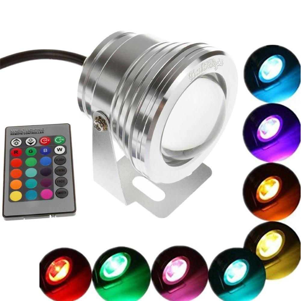 Led Underwater Lights Swimming Pool Light With Remote Control Rgb Submersible Light Durable Led Bulb Portable Underwater 2019 Latest Style Online Sale 50% Led Lamps