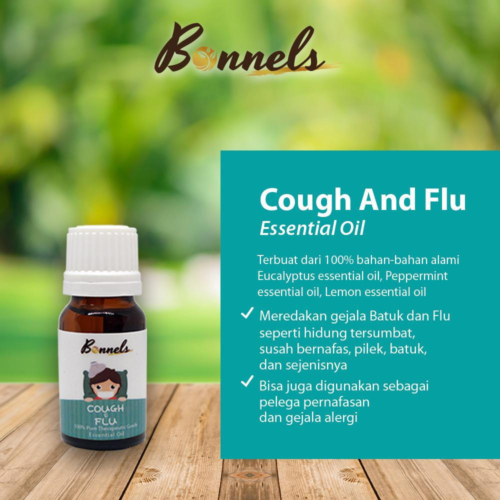 Organiks -Bonnels Cough And Flu Essential Oil - Minyak Esensial Batuk & Flu