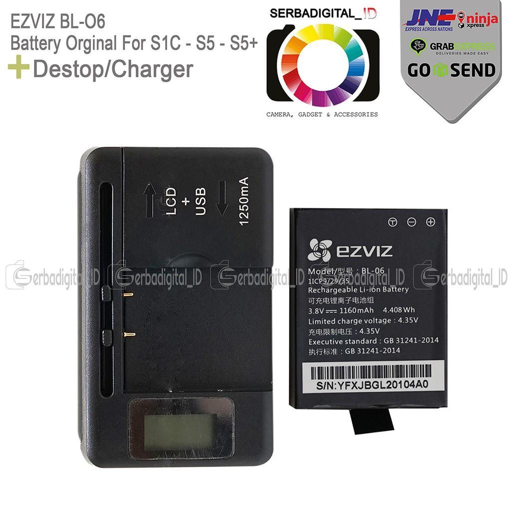 Action Camera Destop/Charger Battery Orginal For Ezviz S1c-S5-S5+