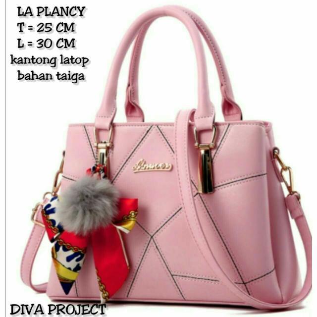 Gambar Produk Promo La Plancy Bag Tas.Wanita Murah Tas Wanita Simple Tas  Kerja Tas Main - Merah Muda Diskon Lengkap c0fbe535c8