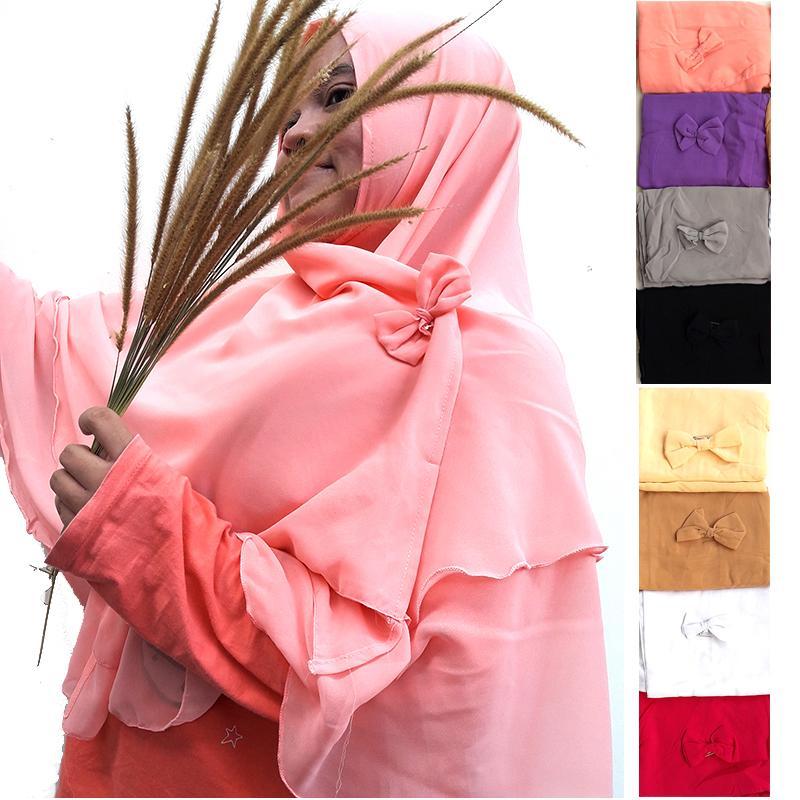 Delice Hijab Kepala Kerudung Amina Jilbab Instan Syari Khimar Polos Tanpa Pet Free Bros Pita 2 Layer Instant Langsung Pakai Women Fashion Wanita Muslim Muslimah Bahan Sifon Chiffon Pengajian Sehari-hari Penutup Pelindung Kepala Simple Adem Nyaman