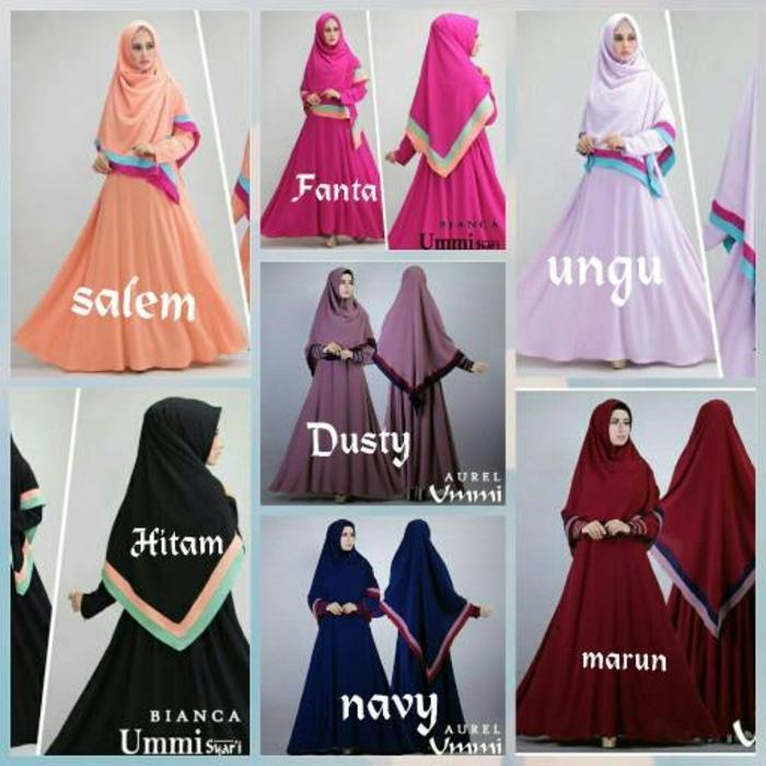 baju muslim gamis ummi syari pink fanta gamis modern bianca fanta/Baju Muslim /Baju Gamis/Baju Muslim Wanita/Pakaian Wanita/Jilbab Jumbo/Hijab