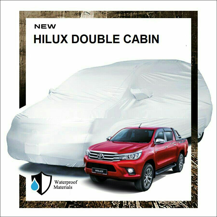 PROMO Fit On Body Cover Sarung Mobil Hilux Double Cabin murah Kualitas bagus