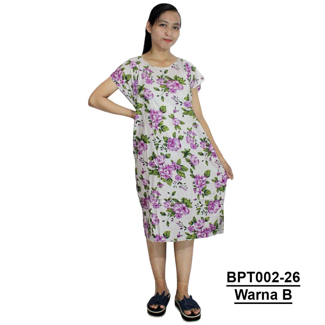 Midi, Daster Midi, Dress Santai, Baju Tidur, Piyama, Atasan Batik (BPT002-26) Batikalhadi Online