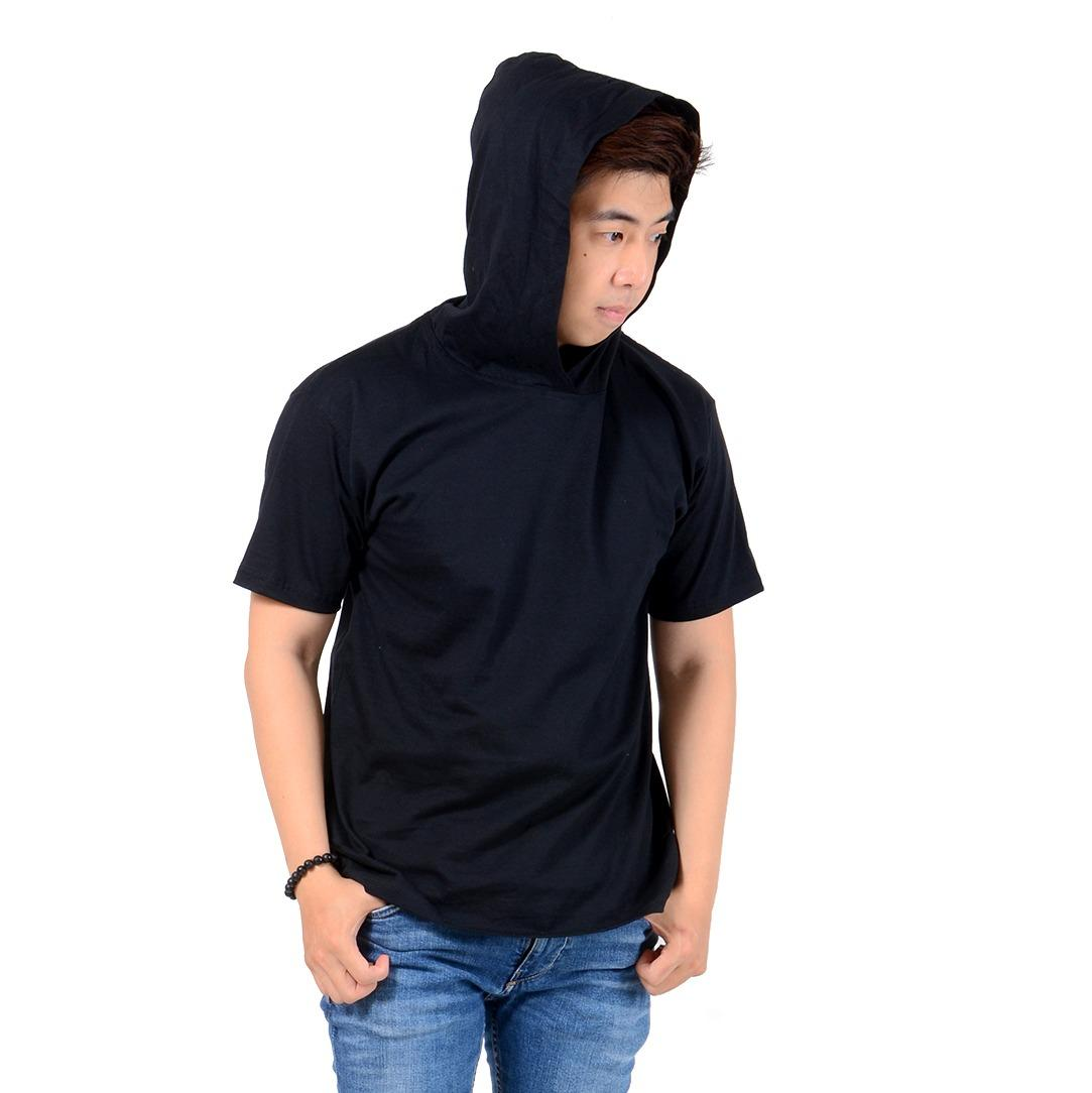Kaos T-shirt Hoodie Fashion Pria Baju Distro Bahan Cotton Combed Atasan Pria Simple Casual