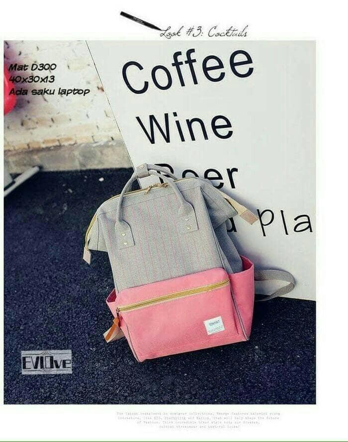 PROMO TERBATAS!!! tas ransel backpack anelo korea bagpack anello abu pink biru gaul