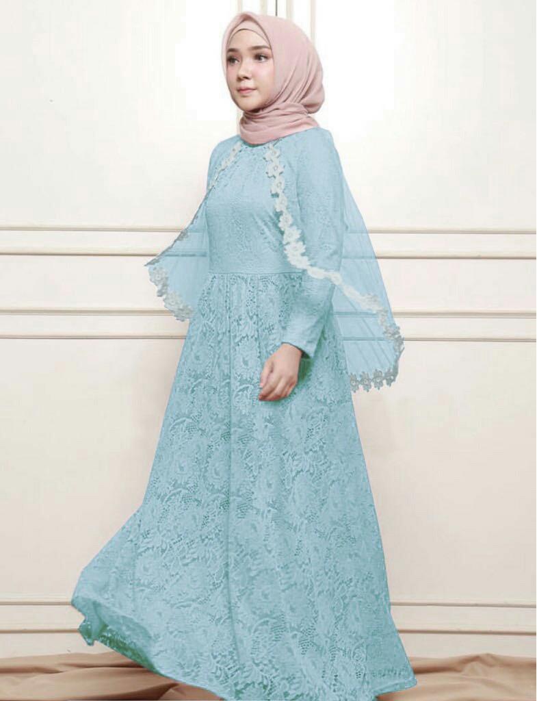 J&C Long Dress Frosen / Long Dress Muslim /  Gamis Muslim / Dress Maxi / Jumbo Dress / Maxi Jumbo / Maxi Muslim / Maxi Dress / Busana Muslim / Baju Muslim / Setelan Muslim / Hijab Fashion / Hijab Style