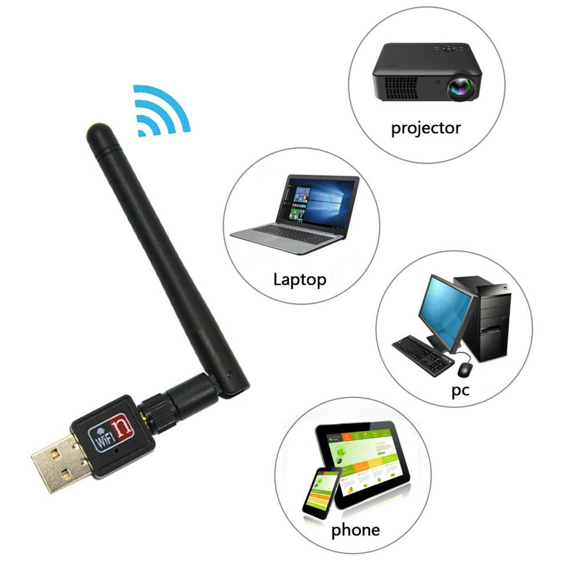 USB Wifi Receiver Wireless Adapter Dongle Plus CD Driver 300 mbps