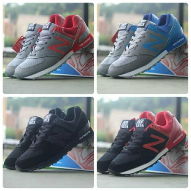 Sepatu Sneakers , New Balance 574 , Casual Keren Gaya Murah Pria Sport Running Sneaker Cowok Kampus