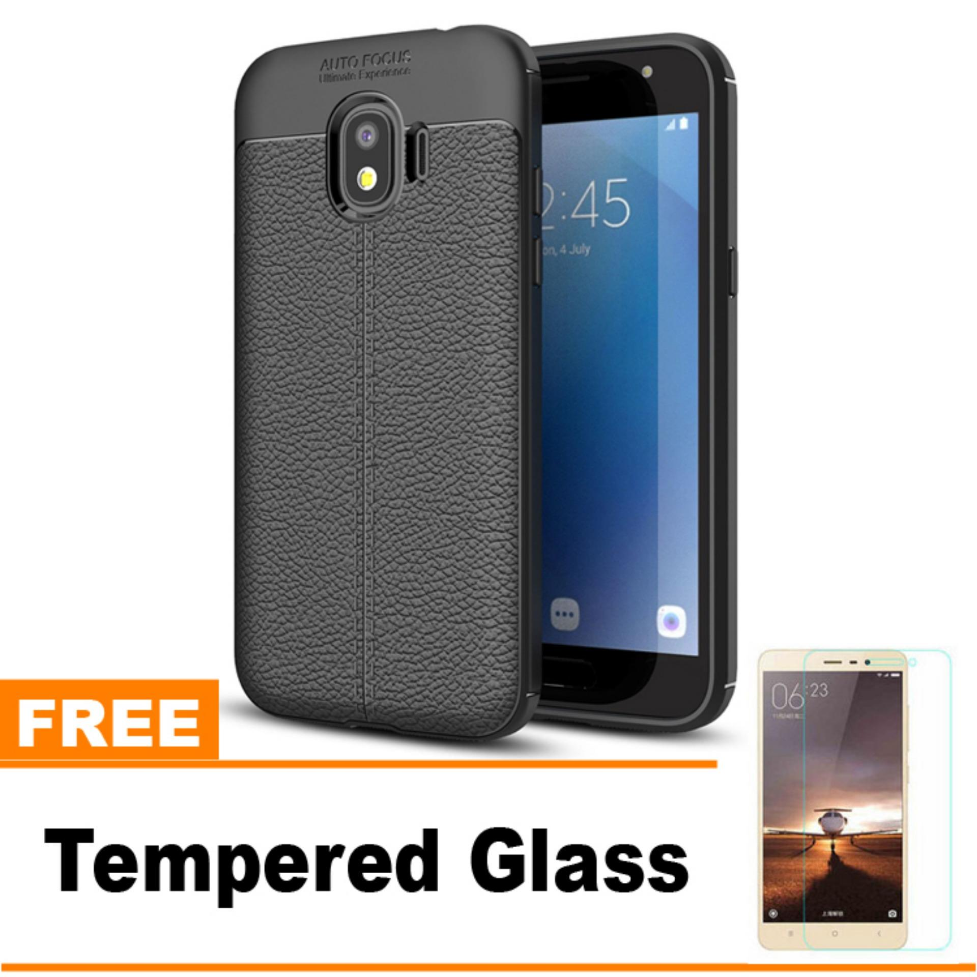 Original Lazada Case Auto Focus For Samsung Galaxy J2 Pro 2018 - Hitam - Hadiah Tempered Glass