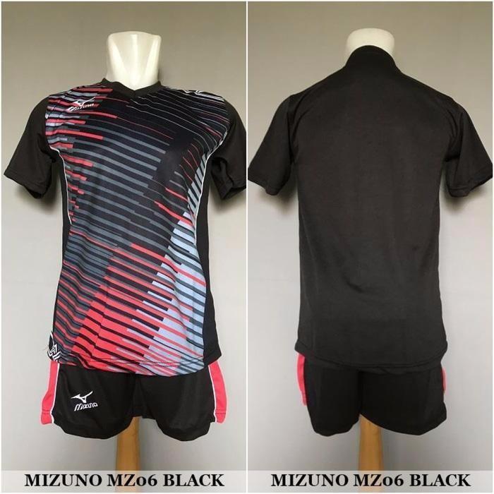 TERMURAH Mizuno MZ06 Black - Baju Kaos Celana Setelan Voli Volly Jersey Olahraga