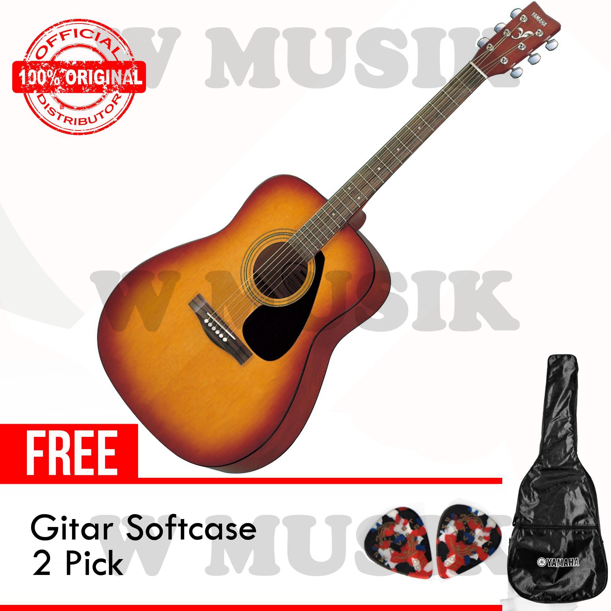 Yamaha Gitar Akustik Folk F-310 / F310 / F 310 / F310TBS - Tobacco Brown Sunburst + Gratis Softcase & 2 Pick