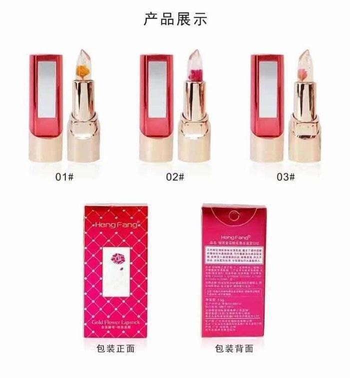 Heng Fang Gold Flower Lipstick Hengfang Like Kailijumei Make Up Makeup Perona Pemerah Bibir Lipstik Best Seller - 02 (bunga merah)