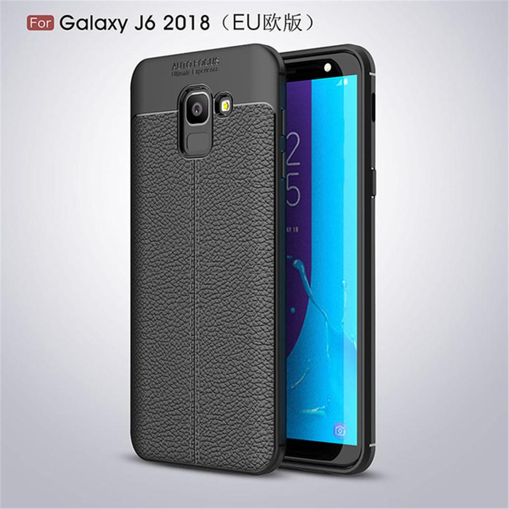 Leather Style TPU Soft Case for Samsung Galaxy J6 2018