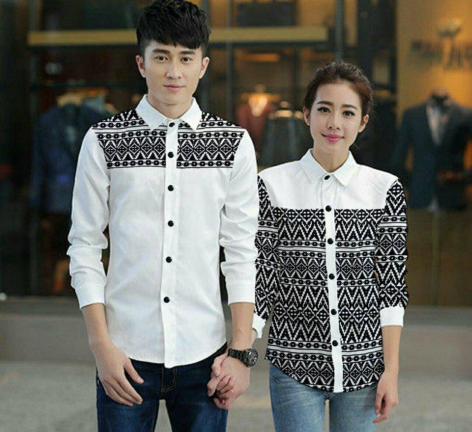 legiONshop - Kemeja Pasangan  kemeja couple  baju couple  atasan  baju pasangan SEGIKA (harga sudah 2 kemeja)