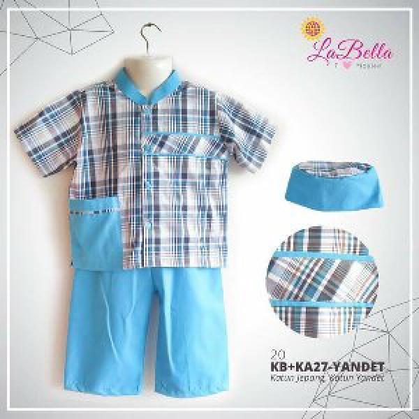 baju koko bayi labella KB biru sz 3-24 bulan