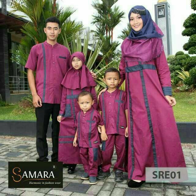 SRE01 | Sarimbit muslim couple baju keluarga seragam Koko gamis ayah ibu anak branded terbaru murah Koko Anak No 4 & 6