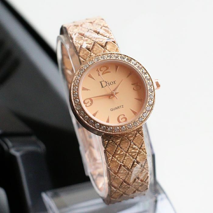 PROMO jam tangan wanita dior laris / jtr 1160 rose plat rose TERLARIS