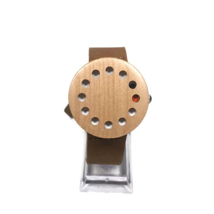Original ZENON Premium Real Bamboo Waterproof Wooden Japan Quartz Movement Watch - C10 - Women - Ja