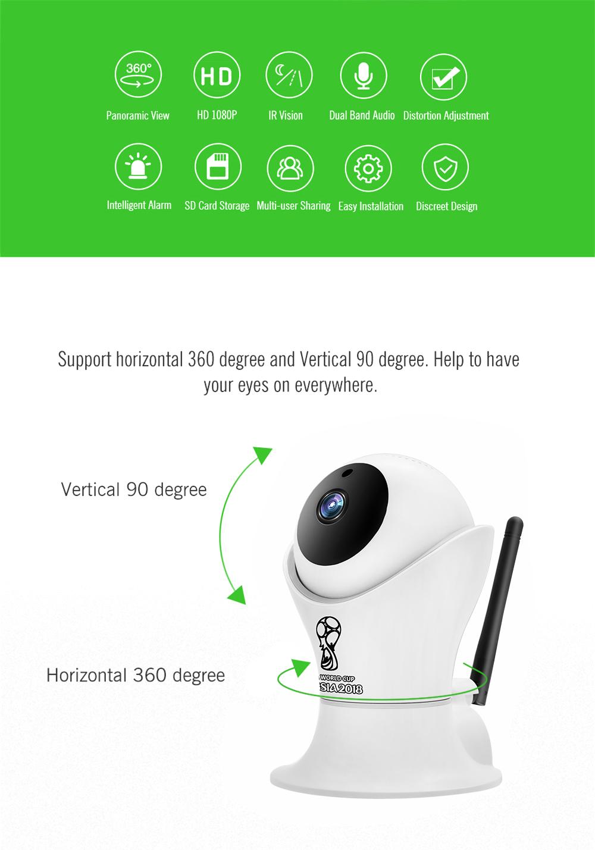 Wistino 1080P Wifi IP Camera World Cup Indoor CCTV Security Camera Wireless 2MP Video Baby Monitor Night Vision Surveillance (3)