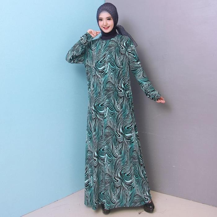 Baju Gamis Wanita Gamis Jersey Jumbo 4L 6737
