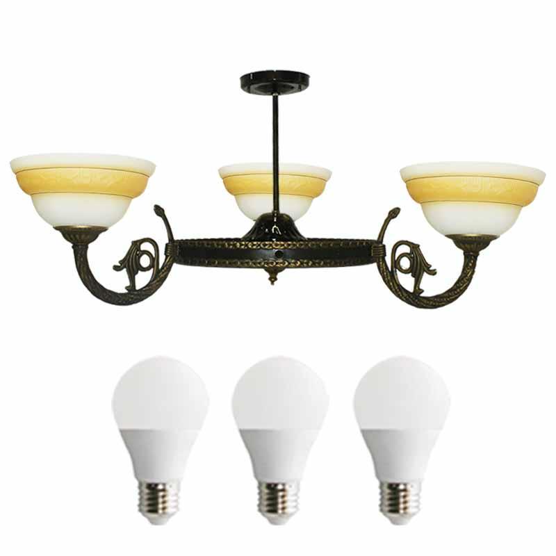 EELIC LHG-40 Lampu Hias + 3 PCS LED 5 WATT  Gantung Kap Lampu Model Mangkok Berbentuk Mangkok Cantik