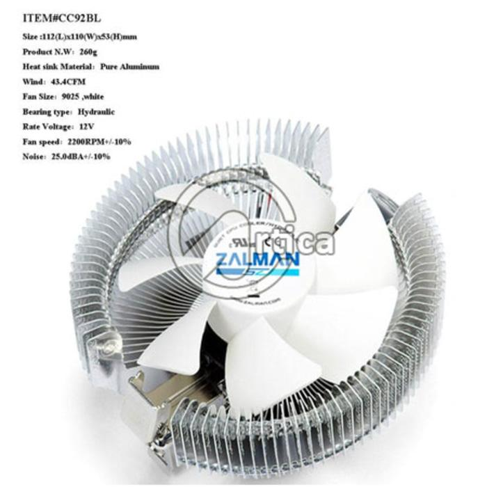 Terbaru!! Zalman Cpu Cooler Lga+Amd 90A-8 - ready stock