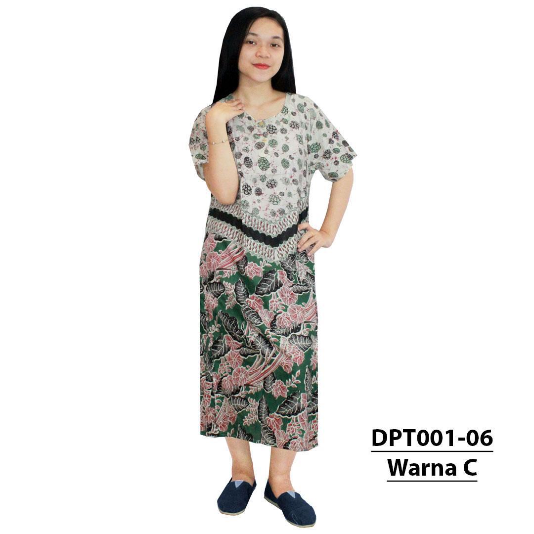 Daster Batik, Daster Lengan Pendek, Baju Tidur, Piyama, Kancing, Dastre Bumil - Daster Busui (DPT001-06) Batik Alhadi